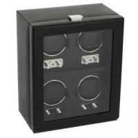 China Wolf Heritage 2.1 4PC Watch Winder with Cover - Black on sale