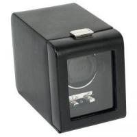 China Wolf Heritage 2.1 Single Watch Winder with Cover - Black on sale