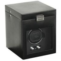 China Wolf Heritage 2.1 Single Watch Winder with Cover and Storage - Black on sale