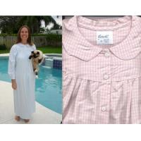 China Flannel Checkered Nightgown S-XXX USA on sale