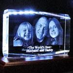 China 3D Photo Crystal X-large 7 x 5 on sale