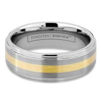 China GOLD TUNGSTEN CARBIDE WEDDING Rings on sale