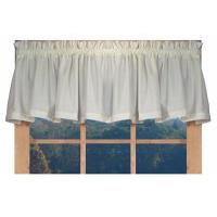 China Kerry Solid Color Tailored Valance Window Curtain on sale
