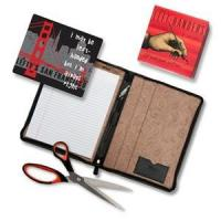 Deluxe Leather Left-Handed Padfolio Gift Set Manufactures