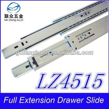 China 45MM 3-fold drawer slide plastic desk rails for drawers