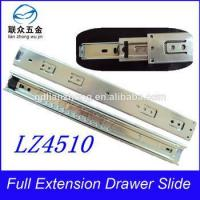 45MM 3-fold drawer slide telescopic plastic push lock drawer slide Manufactures