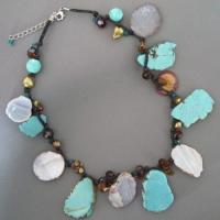 turquoise and white stone necklace Manufactures