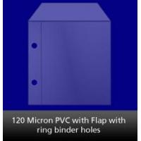 China 120 Micron PVC with Ring Binder Holes on sale