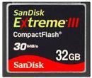 Sandisk 32GB Extreme III Compact Flash Memory Card Manufactures