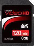 China SanDisk Video HD 8GB SDHC memory cards on sale