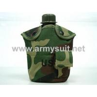 China 1Qt Canteen Water Bottle wPouch & Cup Camo Woodland on sale