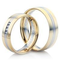 Double Comfort Bi-Colour Diamond Wedding Ring