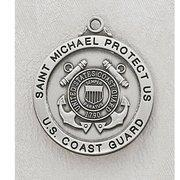 China Coast Guard Sterling Silver St. Michael Medal on sale