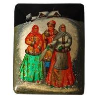 Buy cheap Fellow Entertaining Women - Fedoskino Lacquer Box from wholesalers