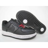 China Womens Air Force 1 Premium Low Black Red on sale