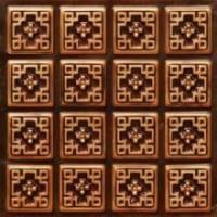 103 Faux Tin Ceiling Tile Glue up 24x24 - Antique Copper