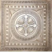 China DCT 01 Faux Tin Ceiling Tile - Antique White - 24 x 24 on sale