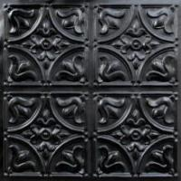 China 148 Faux Tin Ceiling Tile Glue up 24x24 - Black on sale