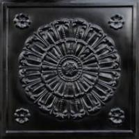 China 151 Faux Tin Ceiling Tile 24x24 - Black on sale
