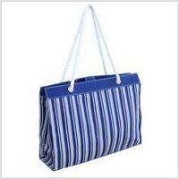 Buy cheap Canvas Stripe Beach Tote (Blue) from wholesalers