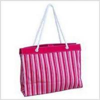Buy cheap Canvas Stripe Beach Tote (Red) from wholesalers