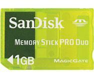 China SanDisk 1GB Memory Stick PRO Duo Card on sale