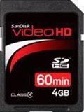 China SanDisk Video HD 4GB SDHC memory cards on sale