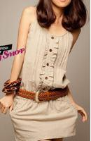 special Leisure Charm Linen Lace Strap Dress F2322 Manufactures