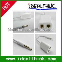 China Item  3.5mm headphones Splitter 1 to 2 Cable Earphone Adapter For iPhone4G 4S on sale