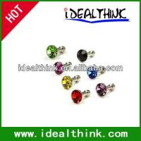 Item Diamond Anti Dust 3.5mm Earphone Jack Plug Stopper for iPhone 4 4S Galaxy Manufactures