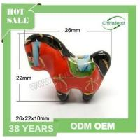 Latest hand painted ceramic horse beads, animal shaped porcelain beads for jewelry making Manufactures