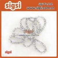 Wholesale Crystal Glass Rhinestone Wedding Bridal Dress Buckle Manufactures