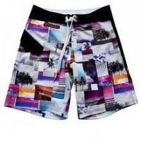 China printed 4 way stretch fabric made board shorts checkers wholesale fabric on sale