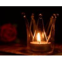 China Crown Glass Candle Holders on sale