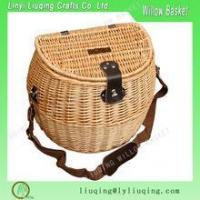 Wholesale natural wicker basket with cover/Fishing basket wicker /Wicker fishing creel basket