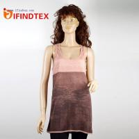 China Vests IFD-BX057Ladies knitted vest, 100%linen wholesale