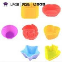 China Useful Kitchen Baking Tools Multi Shape 7*3cm Silicone Cupcake Liners With Cheap Price on sale