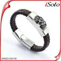 Online shopping site bijouterie dropshipping mens leather bracelet Manufactures