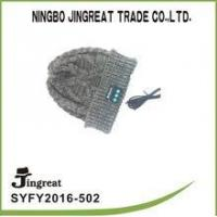 Knitted Wireless Knit Hat Music Cap Fold Blue tooth Beanie hat with headphone Manufactures