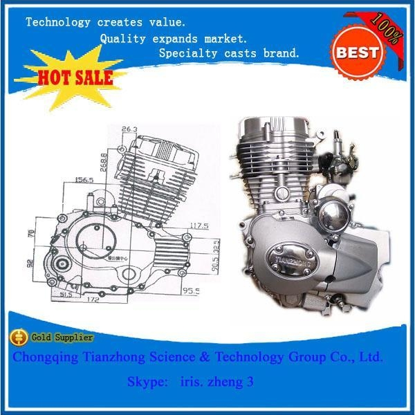 Quality motorcycle engine Best Price Double Clutch CG200CC Vertical Motorcycle Engine for sale