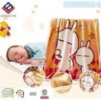 China Blanket flannel cartoon blanket super soft fabric for baby blanket on sale