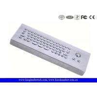 IP65 Rated Industrial Computer Desktop Mini Metal Keyboard With Trackball Manufactures