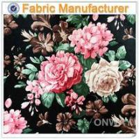 shaoxing china textile viscose pu leather fake printed leather Manufactures