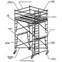 Buy cheap Lightweight Painting, Plastering Aluminium Mobile Scaffold / Multi Purpose Scaffold from wholesalers