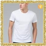 tight fit o neck 100 cotton white blank t shirt for men manufacturer Manufactures