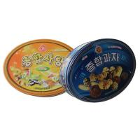 China oval cookie tin packaging on sale