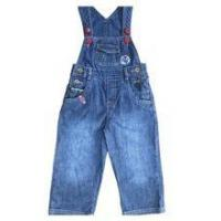 Baby Denim Jeans soft washed baby pants boys jeans with suspenders Manufactures