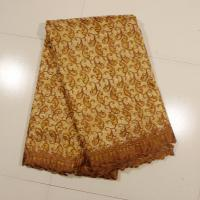 Sign Organza Lace Fabric , Coffee 4 - 5kgs Weight Manufactures