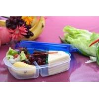 Plastic lunch box 3 compartments