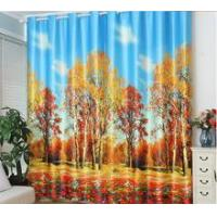 China 3d curtain 3d printable blackout washable curtain fabric on sale
